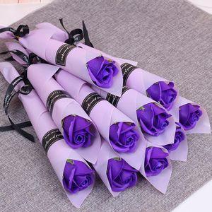 Artificial romántico Rose Carnation Valentine Day Boda Fiesta de cumpleaños Decoraciones Flowers Home Garden Decoración interior FY7439