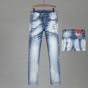 2021SS The latest Italian men's hollow high-quality jeans hip-hop logo designer trousers men's size 28-38 new model DN32454