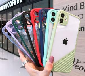 Tranparent Clear Telephone Cases Acrylic TPU Cover posteriore Protezione antiurto Antiurto per iPhone 12 Mini 11 Pro Max X XS XR XS Max 7 7P 8 Plus
