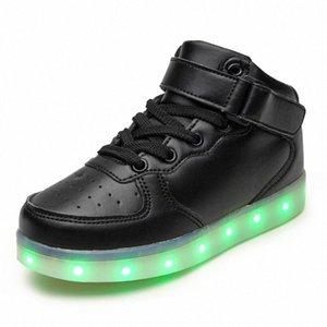 Quente como home preto novo 25-39 usb carregador brilhando tênis levou crianças de iluminação sapatos meninos meninas iluminadas luminous sneaker # 5b59