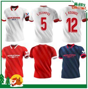 20 21 Sevilla Ever Banega Fussball Jersey 2020 2021 Football Uniform Men + Kids Kit