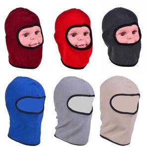 1-8Y Full Face Cap Cap Kids Baby Flece Balaclava Теплая шляпа Polar Freeced Beanie Head Caps Caps Snow лыжи на шее Маска для лица Hude Topy Tuque E122808