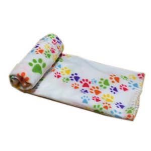 60*70cm Pet Blanket Soft Warm Fleece Paw Print Design Puppy Kitten Bed Sofa Cushion Cover Towel CCA2747