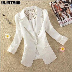 OLGITUM New 2020 Fashion Female Short Design Slim Suit Jackets Elegant Thin Outerwear Women Casual Spring Autumn Jacket JK714