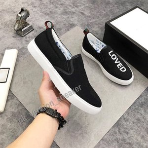 Scarpe casual da uomo Slip on sneakers piatti Sneakers Versatile Style Tempo libero Lazy Canvas Scarpe Race Chaussures Strawberry Loved Tiger Mocassini