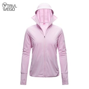 TRVLWEGO Long Sleeve Hoody Summer Women Sun UV Protection Quick Dry Clothing Men Hooded Jacket Thin Beach Sweatshirt Q1202