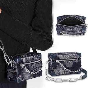 Erkek Zincir Çanta Mini Yumuşak Gövde Crossbody Çanta Yeni Gelmesi Kovboy Omuz Çantası Çanta Yepyeni Yumuşak Kutu Debriyaj Çanta Taşınabilir Pochette