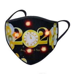 500 adet Aydınlık Rave Noel Parlayan LED Yüz Maskesi Cadılar Bayramı Masquerade Parti Maskeleri 2021 Mutlu Yeni Yıl28Zh