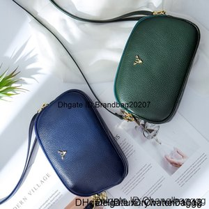 Brand New zipper Fashion three-layer cowhide change mobile phone ladies leather mini spring and summer diagonal small bag whole