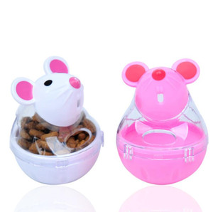 Tumbler Leakage Feeder Interactive Toy Pet Puppy Feeder Leakage Playing Training Educational Toys 2 Colors DHF3324