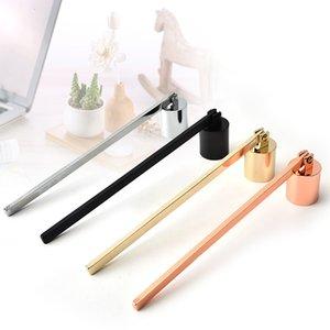 الفولاذ المقاوم للصدأ شمعة flame snuffer wick trimmer أداة متعددة الألوان اخماد النار على جرس سهلة لاستخدام yyf1863