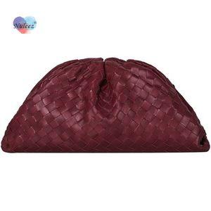 Nuleez nu cloud sac femmes tricoter cuir peau de vache handbag embrayage lady mode portefeuille c0122