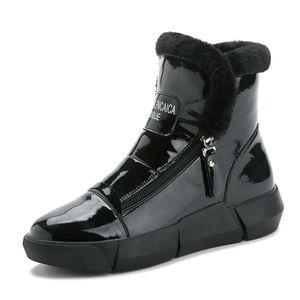 2021 Новая зимняя детская обувь из искусственной кожи водонепроницаемый Martin Boots дети снежные ботинки бренд девочек мальчиков резиновые сапоги модные кроссовки