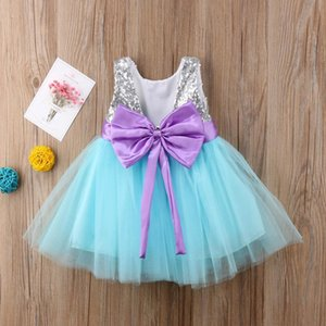 Pudcoco 2019 Princess Kids Baby Girls Sequins Tulle Sleeveless Dress Big Bow Tutu Party Wedding Dress Summer Girls jllhRy