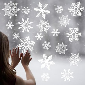 2Pcs Merry Christmas Wall Sticker Snowflake Christmas Window Stickers Decoration Kids Room Wall Sticker Decal Ornament