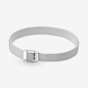 Genuine 925 Sterling Silver Reflexions Sparkling Clasp Bracele Fit Authentic European Dangle Charm For Women Fashion DIY Jewelry Accessories