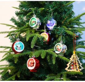 Luzes de Natal LED Árvore de Natal enfeites Electroplating Luminous Bola de Natal Luzes Xmas Presentes Xmas Decorações XD24211