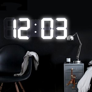 Anpro 3D Large LED Digital Wall Clock Date Time Celsius Nightlight Display Table Desktop Clocks Alarm Clock From Living Room Q1124