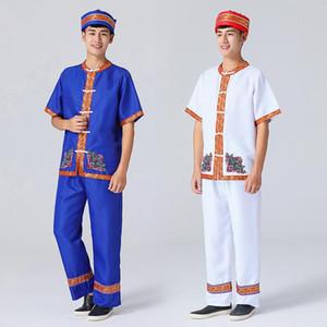 Hmong Men Ropa National Chinese Folk Dance Thnic Moderno Hmong Ropa Trajes Danza Diseño clásico FF2003