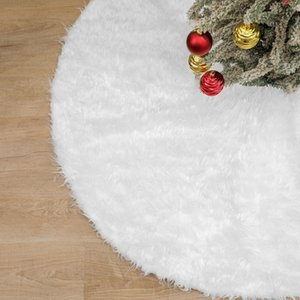 White Plush Christmas Tree Fur Carpet Merry Christmas Decorations For Home Natal Tree Skirts New Year Decoration Navidad sea ship DHA2794