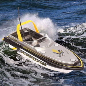 Elettrico RC Radio Remote Control Ship Super Mini Speed Boat Boat Dual Motor Kids Giocattolo per bambini Quick Car Computa 40MHz Regalo per Boy Smart Frequenza Y200413
