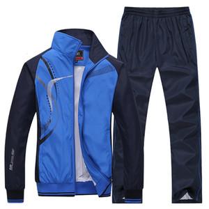 Ectic 2020 homens correndo herfst esportes 2 delicioso casaco esportivo + broek sweatsuit training training terno conjunto