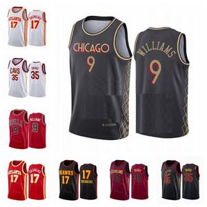 2021 Homens 17 Onyeka Okongwu Jersey 9 Patrick Williams 35 Isaac Okoro New City Basketball Jersey Sick Edition Branco Vermelho Vermelho Custom