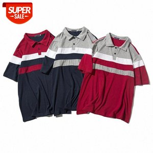Men's Short Sleeve Shirt Men's Stripe Short Sleeve Shirt Fashion Mixed Color #4R2t