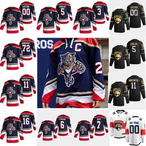 Florida Panthers 2021 Reverse Retro Hockey-Trikots 72 Sergei Bobrovsky Aaron Ekblad Aleksander Barkov Jonathan Huberdeau Custom genäht