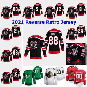 Chicago Blackhawks 2021 Jerseys de hockey rétro Retro Carl Dahlstrom Ryan Carpenter Kirby Dach Mackenzie Entrwistle Zack Smith sur mesure