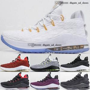 Uomini 13 Dimensione US 46 15s 12 Lebrons 47 15 Trainisti James XV Sneakers Tennis Pallacanestro 38 Lebrons Gioventù Scarpe da donna EUR Cestini bianchi con scatola
