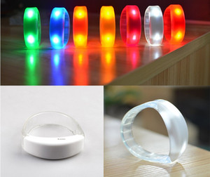 Sound Control Led Flashing Bracelet Light Up Bangle Wristband Music Activated Night light Club Activity Party Bar Disco Cheer toy DHL