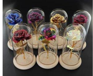 Fleur Mariage et Beauté Décorations de bête Le Dôme en cadeau préservé cadeaux frais de rose jour immortel pour toujours verre Valentiness Dtzii Maisons2011