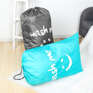 Washable Dirty Clothes Organizer Nylon Laundry Bag Wash Me Travel Storage Pouch Folding Bags Wash Drawstring Bag