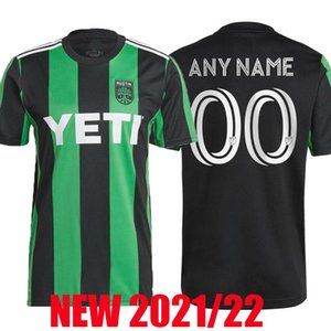Yeni Inaugural Austin FC Futbol Formaları 2021 2022 MLS Ev Seti Siyah Yeşil 21 22 Futbol Gömlek Camisetas de Fútbol Maillot De Ayak Üniforma