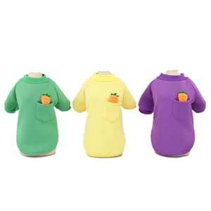Petite molleton pour animaux de compagnie vêtements de chien accessoires durables Sweats à capuche de chars de la carotte mignon chaude mode de mode automne hiver 8cl k2