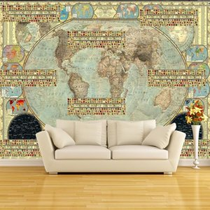 Dropship Size Photo High Definition Retro Murals Flag Parquet Tooling Background Wall Living Room Custom Wallpaper