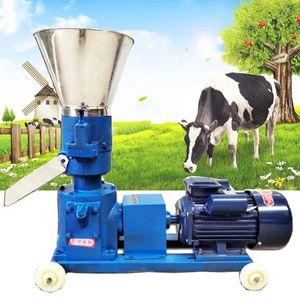 Pellet Moulin d'alimentation multifonction Pellelette Faire de la machine Granulateur d'aliments pour animaux ménagers 4KW 220V 100kg / h-120kg / h