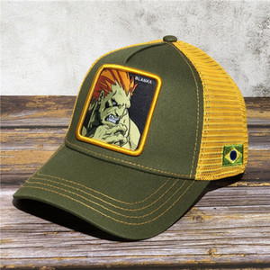 Street Fighter BLANKA Branca hat game anime character baseball cap baseball cap