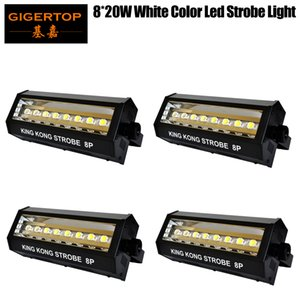 Freeshipping 4 Unità 8x20W luce Led Big Strobe Bianco Flash automatico / suono / DMX512 / esposizione / lampeggiante Ciclo Regolare Strobe Velocità Dimmer