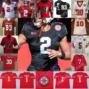 Nebraska Cornhuskers del calcio Jersey NCAA College Adrian Martinez Dedrick Mills Wan'Dale Robinson Luca McCaffrey Allen Honas Fryar Craig