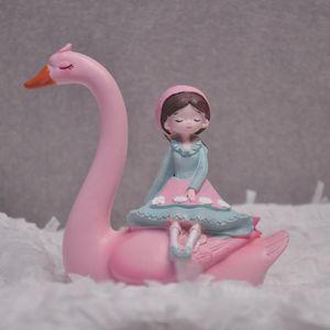 Rosa flamenco lindo niña torta topper DIY cupcake toppers feliz cumpleaños tapa topper flamingo decoración de cumpleaños boda e