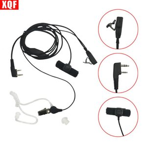 Walkie Talkie XQF Covert Acoustic Tube Earpiece Headset Mic With Finger Pfor Radio 2pin TK-3107 Etc