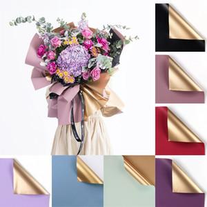 Doppelseitige Farbe Blume Einwickelpapier Florist Blumen-Blumenstrauß-Geschenk gewickeltem Papier koreanische Art Geschenk Verpackung Papier