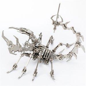 روبوت الحشرات العقرب 3d الصلب المعادن الانتهاء diy مشترك التنقل مصغرة نموذج أطقم لغز اللعب الصبي الربط هواية بناء Y200421