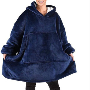 Oversized TV Blanket Sweatshirt Hoodie Ultra Plush Soft Warm Outdoor Winter Hooded Coats Bathrobe Fleece Pullover for Men Women