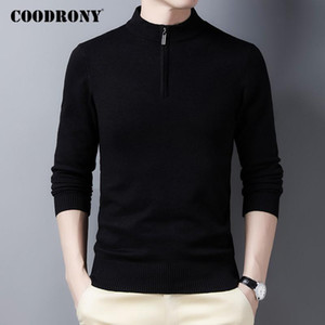 COODRONY High Quality Soft Warm Winter Zipper Turtleneck Sweater Men Streetwear Tops Fashion Casual Cotton Pullover Jumper C1230