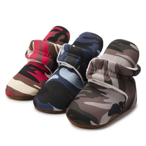 2020 Cute Autumn Baby Boy Soft Sole Cotton Shoes Camouflage Toddler Shoes Newborn Warm Boots FIrst Walker