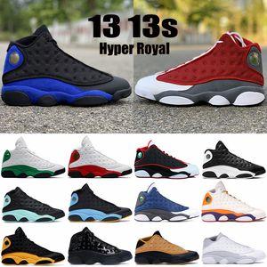 Novos 13 13s Jumpman Mens Basquetebol Sapatos Hyper Royal Vermelho Flint Lucky Verde Verde Ele Tem Game Low Chutney Homens Sneakers Trainers