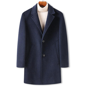 Autumn and winter extra large loose men's wool double faced woolen coat